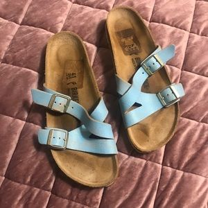 Birkenstock Yao in Washed Metallic Blue